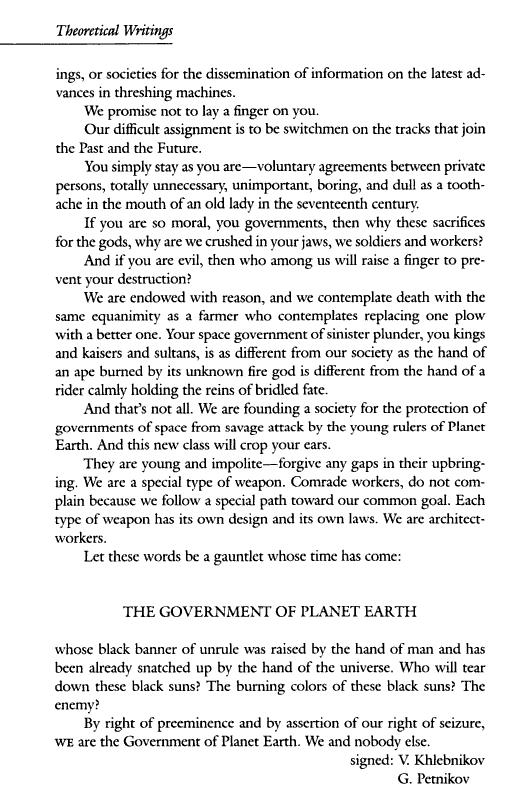 An appeal by the Presidents of Planet Earth, page 2